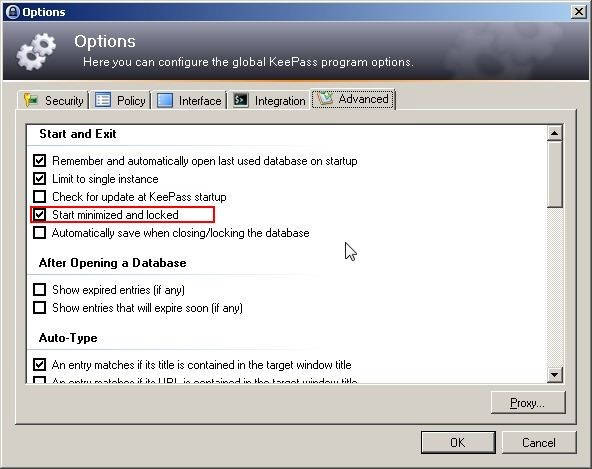 options star keepass