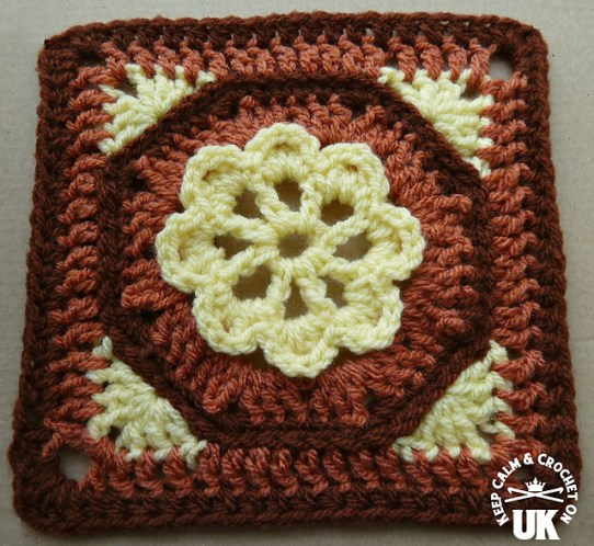 Octogan Garden Afghan Square