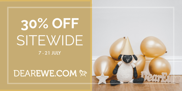 Dear Ewe 1st Birthday Sale! 30% Discount to all items in store.