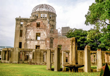 The A-Bomb Dome is the only surviving building during the Hiroshima Bombing / Peace Memorial Park in Hiroshima.