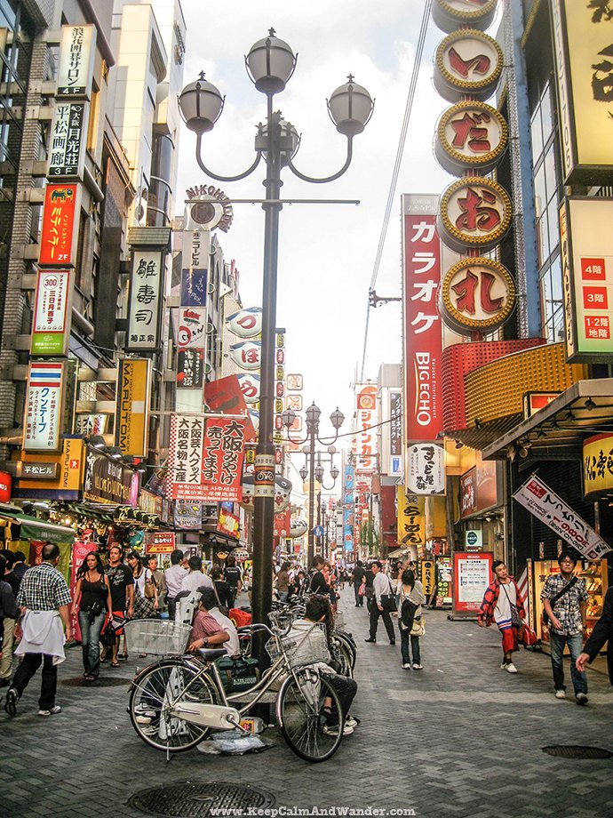 Dotombori Namba is the heartbeat of Osaka, Japan.