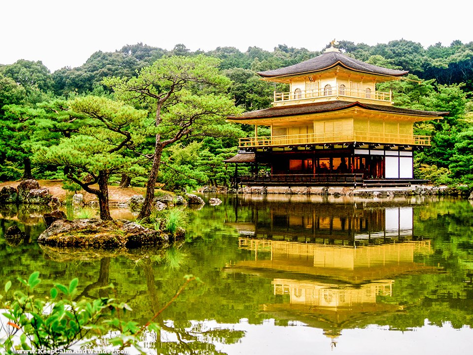 The Golden Pavilion in Kyoto, Japan.
