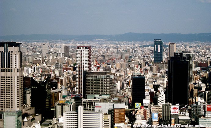 Osaka Skyline from Umeda Sky Building.