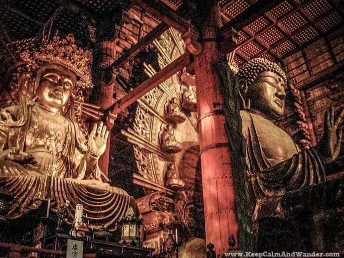 Todai ji Temple in Nara, Japan.
