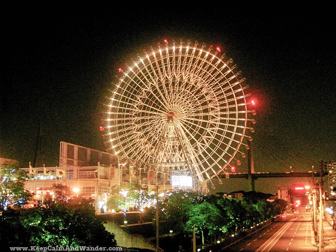 World's Largest Ferris Wheel and Largest Aquarium Tank in Osaka (2009)