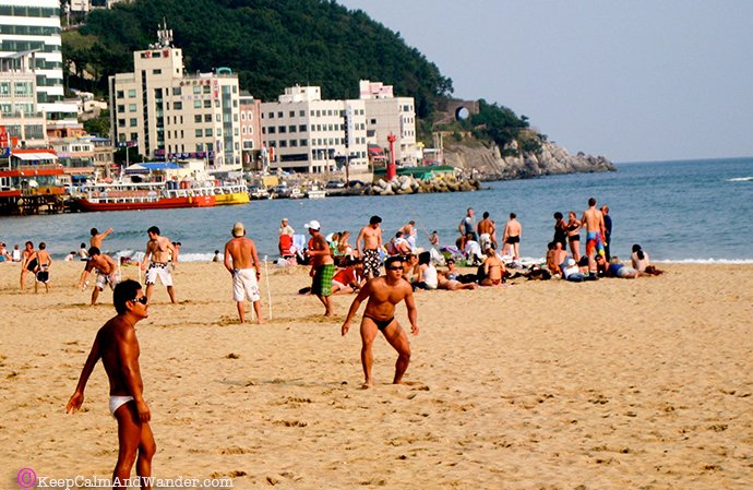 Pusan, South Korea. Beaches in Busan - GWANG-ALLI Beach
