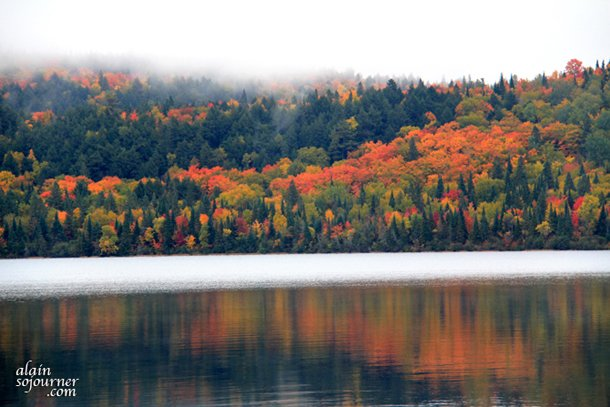 Lake of Two Rivers camp ground in Algonquin Park in Fall.