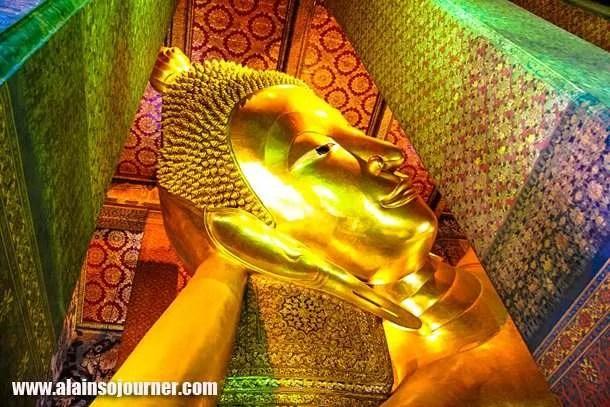 Reclining Buddha in Bangkok, Thailand (Wat Pho).