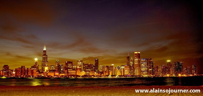 Chicago Skyline Night 14
