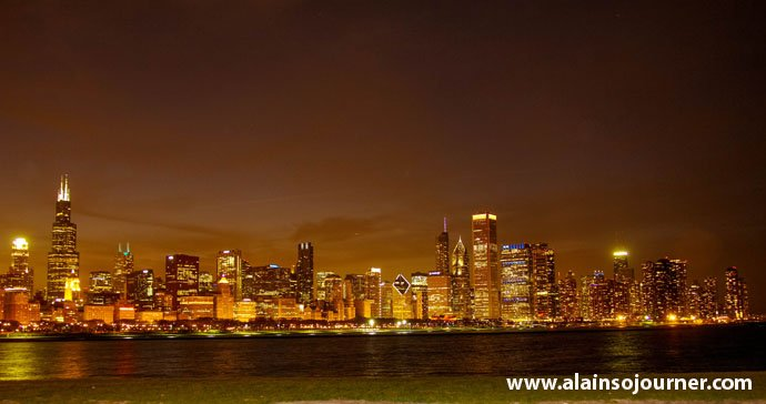 Chicago Skyline Night 16