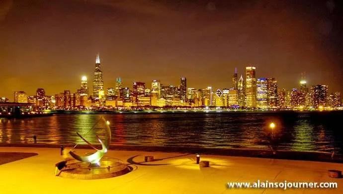 Chicago Skyline Night 19