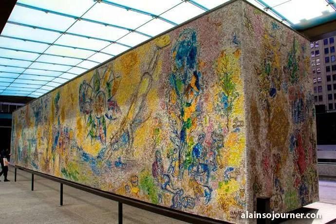 Four Seasons Marc Chagall Chicago Public Art