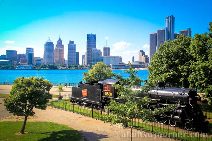 Detroit Skyline from Windsor, Canada.