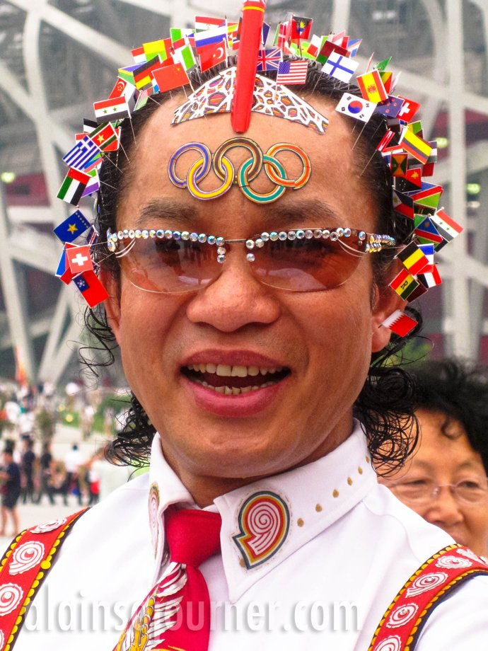 2008 Beijing Olympic Games - The Man that holds the Flags of the World.