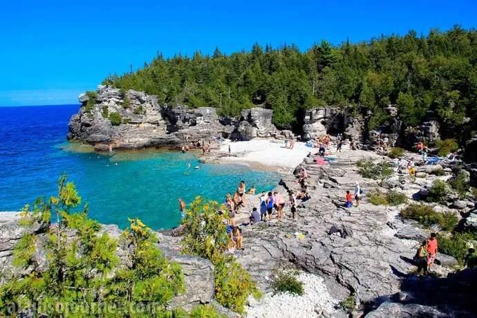Grotto Bruce Peninsula Cyprus Lake Campround
