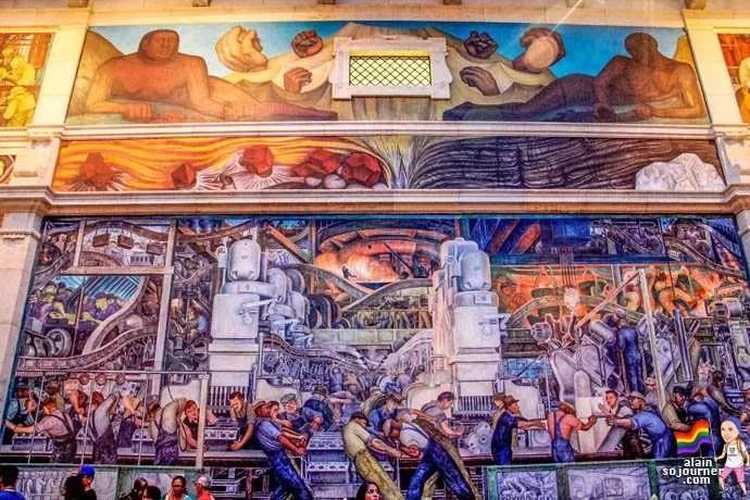 Diego rivera court mural detroit institute of arts dia 18 for Diego rivera mural san francisco art institute