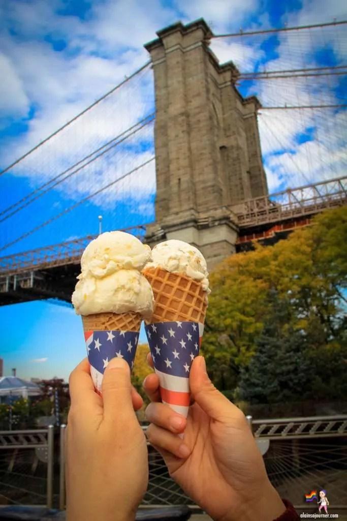 Ice cream factory in brooklyn bridge heights