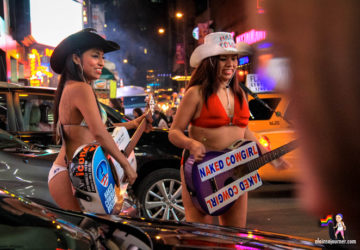 Naked Cowgirls Times Square Buskers