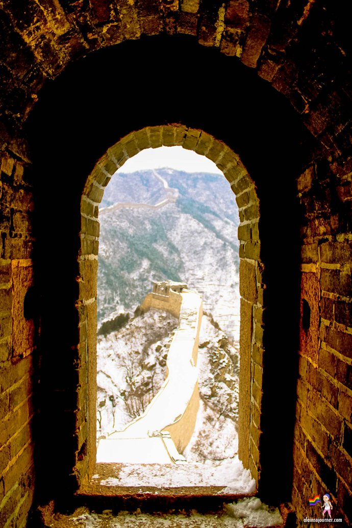 Huanghuacheng Great Wall of China in snow winter