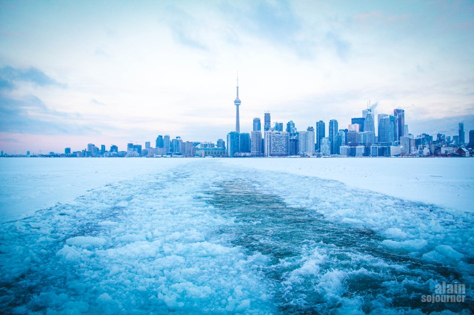 Frozen Toronto in Snow