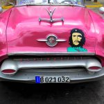 Riding on the Classic Cars in Cuba