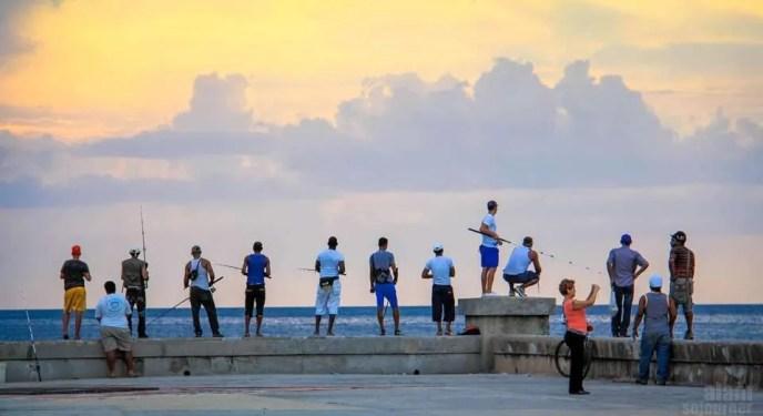 Gays in Cuba Malecon Sunset Havana