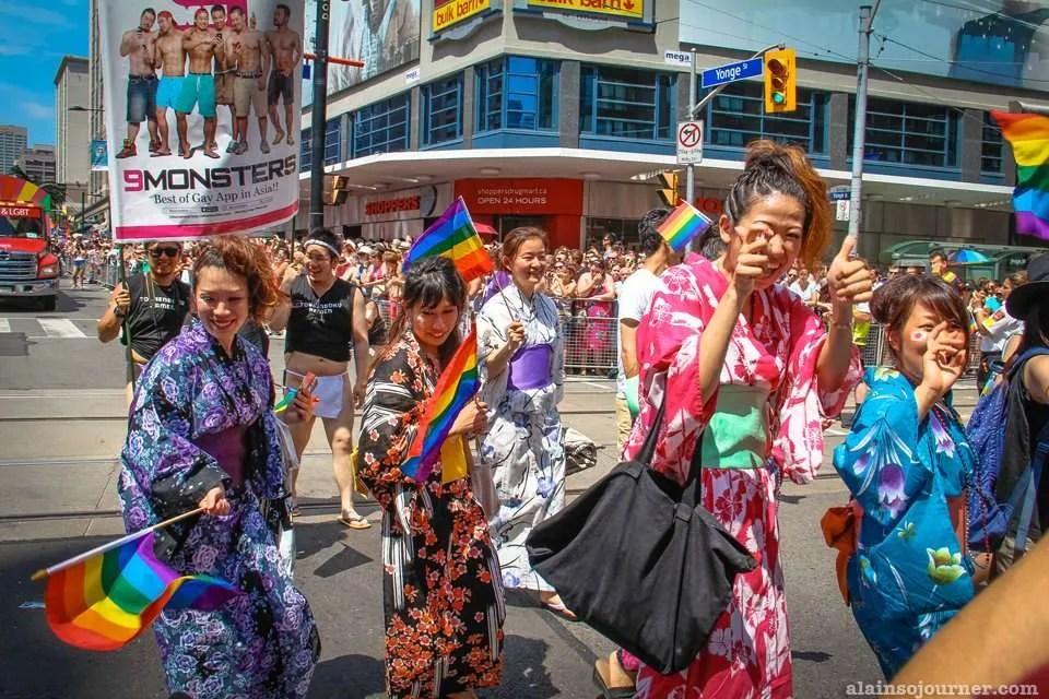World Pride Parade 2014 Toronto Japan