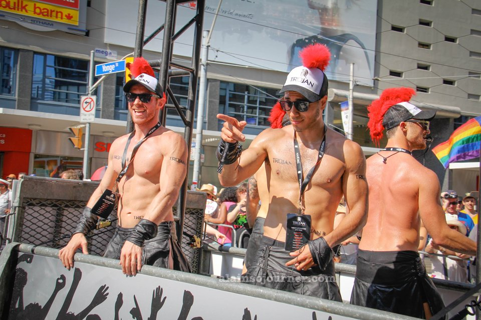 The Shirtless Boys of World Pride 2014 Toronto Trojan Models