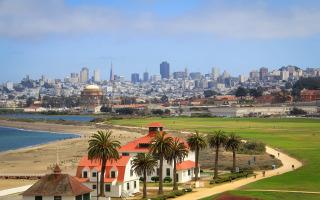 Golden Gate Bridge San Francisco Skyline Panorama