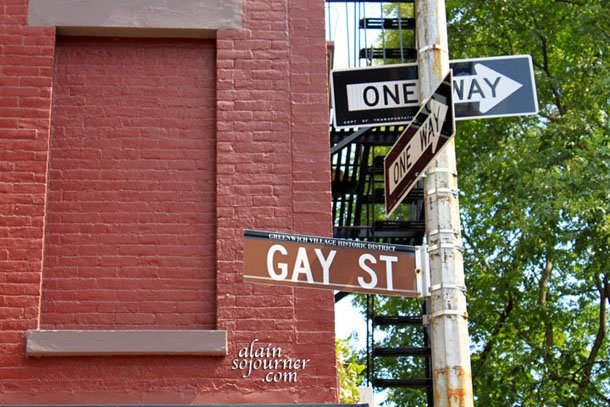Gay Street in the Gay Village in New Yory City.