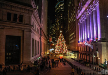 Christmas on Wall Street , New York.