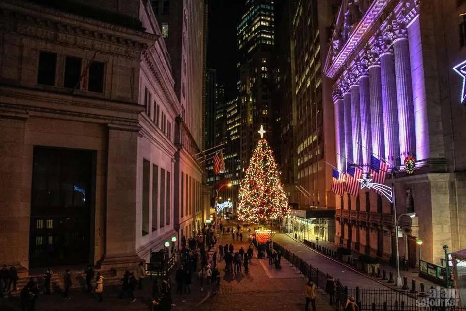 Christmas on Wall Street , New York.