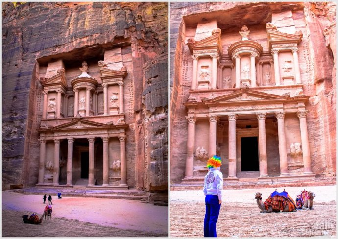 Things to do and see in Jordan: Gawk at The Treasury in Petra.