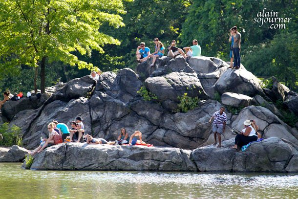 Spending summer in New York's central Park is like this.