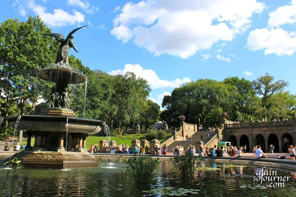 Bethesda Fountain in Central Park, New York.
