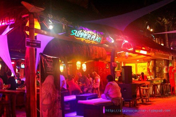 Nightlife in Boracay Island, The Philippines / Summer Place Bar.
