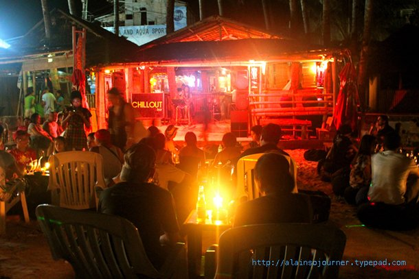 Nightlife in Boracay Island, The Philippines / ChillOut Bar.