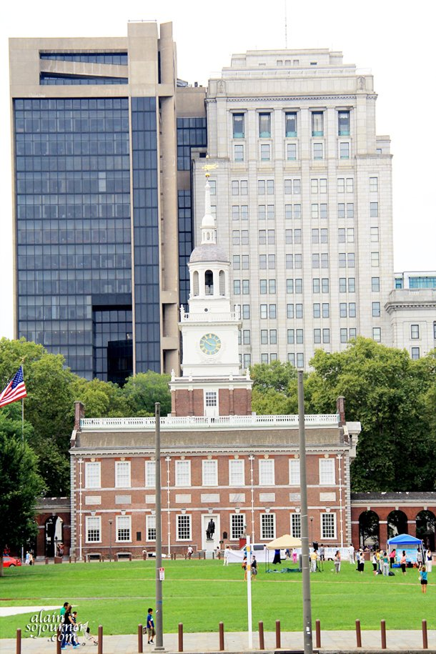 The historic Independence Hall in Philadelphia.