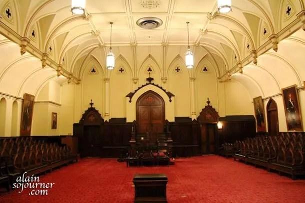 Gothic Hall inside the Masonic Temple in Philadelphia.