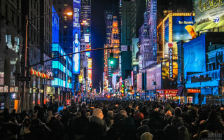 2015 Times Square New Year Countdown in New York / 7th Avenue and 51st