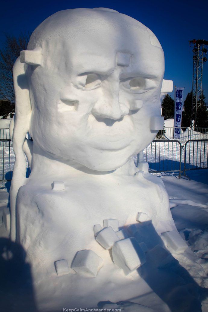 Ice Castles and Ice Sculptures in Quebec City for 2015 Winter Carnaval.