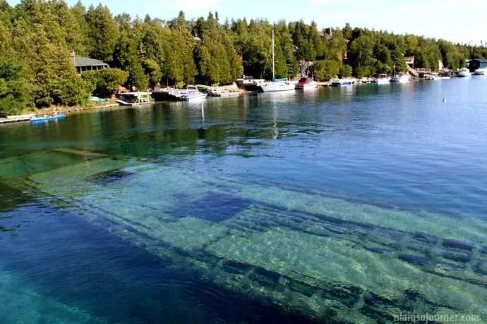 Shipwrecks in Bruce Peninsula