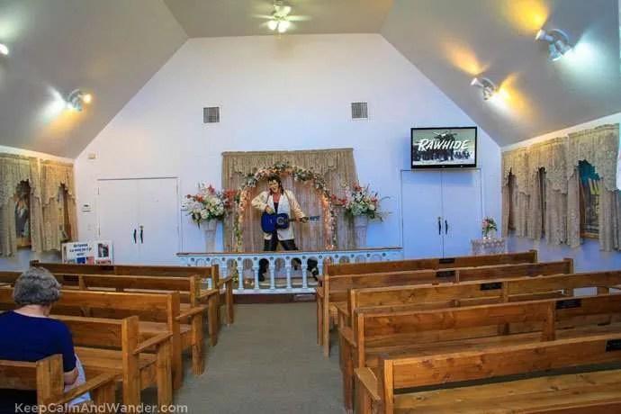The Elvis Presley Chapel in Superstition Mountain, Phoenix, Arizona.