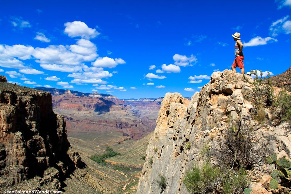 At the 3-mile Resthouse of the Bright Angel Trail.