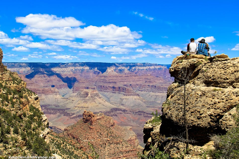 The Bright Angel Trail at the Grand Canyon.