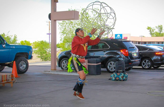 The Native American / Indian-Navajo Hoop Dance at Page, Arizona.