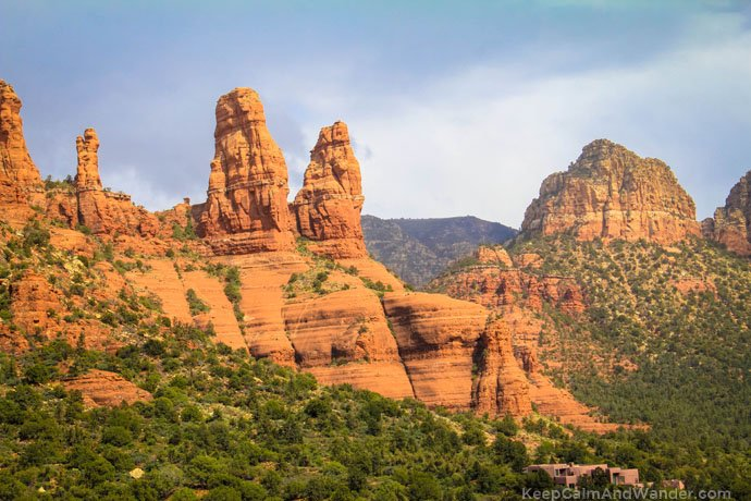 The Two Nuns. You can see them from the Chapel of the Holy Cross. Sedona, Arizona