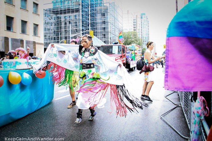 The First Nations at Toronto Pride Parade 2015.