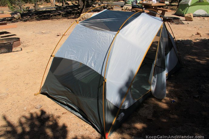 Camping at the Grand Canyon, South Rim / Double Camping Tent.