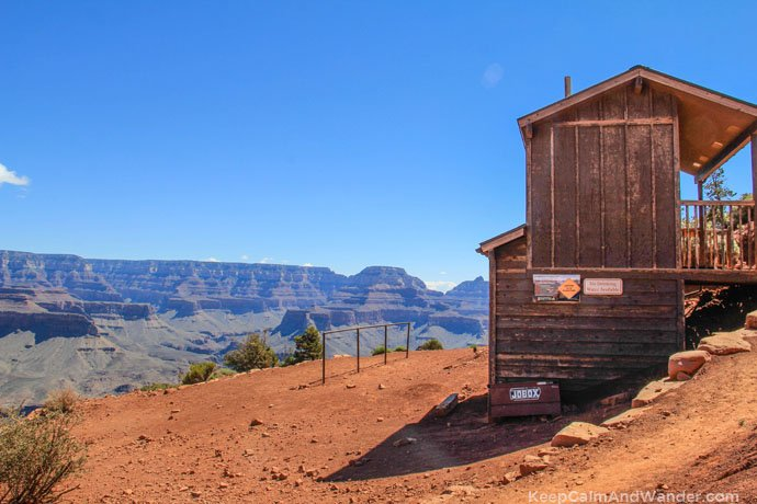 Loo With a View at Grand Canyon (Cedar Ridge, South Kaibab Trail).
